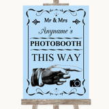 Blue Photobooth This Way Right Customised Wedding Sign