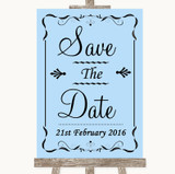 Blue Save The Date Customised Wedding Sign