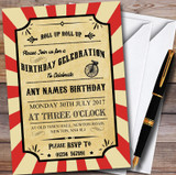Carnival Circus Vintage Customised Children's Birthday Party Invitations