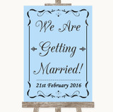 Blue We Are Getting Married Customised Wedding Sign