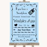 Blue Wedpics App Photos Customised Wedding Sign