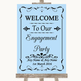 Blue Welcome To Our Engagement Party Customised Wedding Sign
