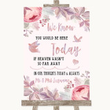 Blush Rose Gold & Lilac Loved Ones In Heaven Customised Wedding Sign