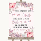 Blush Rose Gold & Lilac Photo Prop Guestbook Customised Wedding Sign