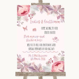 Blush Rose Gold & Lilac Pick A Prop Photobooth Customised Wedding Sign