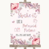 Blush Rose Gold & Lilac Polaroid Picture Customised Wedding Sign