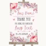 Blush Rose Gold & Lilac Thank You Bridesmaid Page Boy Best Man Wedding Sign