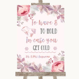 Blush Rose Gold & Lilac Wedding Blanket Scarf Customised Wedding Sign