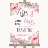 Blush Rose Gold & Lilac Cards & Gifts Table Customised Wedding Sign