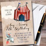 Vintage Big Top Circus Customised Children's Birthday Party Invitations