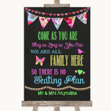 Bright Bunting Chalk All Family No Seating Plan Customised Wedding Sign