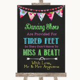 Bright Bunting Chalk Dancing Shoes Flip-Flop Tired Feet Wedding Sign
