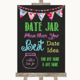 Bright Bunting Chalk Date Jar Guestbook Customised Wedding Sign