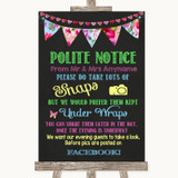 Bright Bunting Chalk Don't Post Photos Facebook Customised Wedding Sign