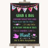Bright Bunting Chalk Grab A Bag Candy Buffet Cart Sweets Wedding Sign