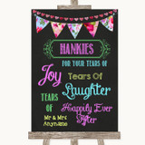 Bright Bunting Chalk Hankies And Tissues Customised Wedding Sign