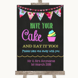Bright Bunting Chalk Have Your Cake & Eat It Too Customised Wedding Sign