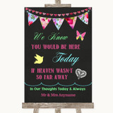 Bright Bunting Chalk Loved Ones In Heaven Customised Wedding Sign