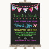 Bright Bunting Chalk Photo Guestbook Friends & Family Customised Wedding Sign