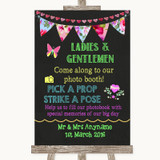 Bright Bunting Chalk Pick A Prop Customised Wedding Sign