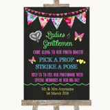 Bright Bunting Chalk Pick A Prop Photobooth Customised Wedding Sign