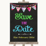 Bright Bunting Chalk Save The Date Customised Wedding Sign