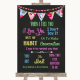 Bright Bunting Chalk When I Tell You I Love You Customised Wedding Sign
