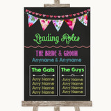Bright Bunting Chalk Who's Who Leading Roles Customised Wedding Sign