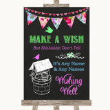 Bright Bunting Chalk Wishing Well Message Customised Wedding Sign