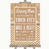 Brown Winter Dancing Shoes Flip-Flop Tired Feet Customised Wedding Sign