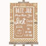 Brown Winter Date Jar Guestbook Customised Wedding Sign