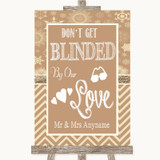 Brown Winter Don't Be Blinded Sunglasses Customised Wedding Sign