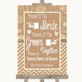 Brown Winter Friends Of The Bride Groom Seating Customised Wedding Sign