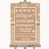 Brown Winter Instagram Photo Sharing Customised Wedding Sign