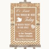 Brown Winter Loved Ones In Heaven Customised Wedding Sign