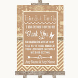 Brown Winter Photo Guestbook Friends & Family Customised Wedding Sign