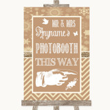 Brown Winter Photobooth This Way Right Customised Wedding Sign