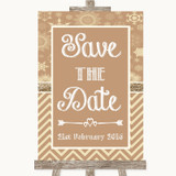Brown Winter Save The Date Customised Wedding Sign