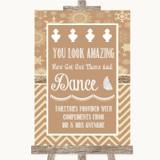 Brown Winter Toiletries Comfort Basket Customised Wedding Sign
