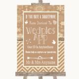Brown Winter Wedpics App Photos Customised Wedding Sign