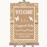 Brown Winter Welcome To Our Engagement Party Customised Wedding Sign