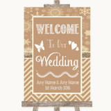Brown Winter Welcome To Our Wedding Customised Wedding Sign