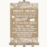 Burlap & Lace Don't Post Photos Facebook Customised Wedding Sign
