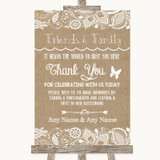 Burlap & Lace Photo Guestbook Friends & Family Customised Wedding Sign
