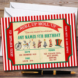 Olde Vintage Circus Customised Children's Birthday Party Invitations