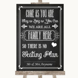 Chalk Sketch All Family No Seating Plan Customised Wedding Sign