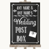 Chalk Sketch Card Post Box Customised Wedding Sign