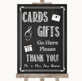Chalk Sketch Cards & Gifts Table Customised Wedding Sign