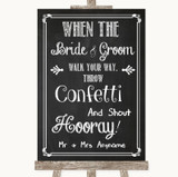 Chalk Sketch Confetti Customised Wedding Sign