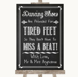 Chalk Sketch Dancing Shoes Flip-Flop Tired Feet Customised Wedding Sign